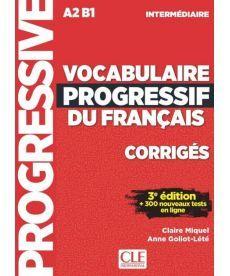 Vocabulaire Progr du Franc 3e Edition Interm Corriges