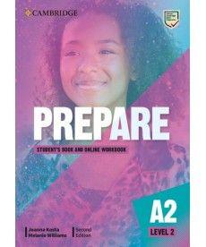 Cambridge English Prepare! 2nd Edition Level 2 SB with Online WB including Companion for Ukraine