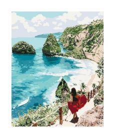 Картина по номерам Бриллиантовый пляж   40*50 см (KHO4734)