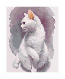 Картина по номерам Нежный кот  40*50 см (KHO4181)