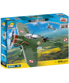 Конструктор COBI Вторая Мировая Война Самолет PZL Карась P-23B, 280 деталей