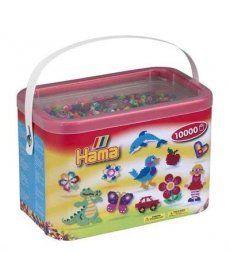 Набор цветных бусин, 10.000 шт, 50 цветов, MIDI 5+