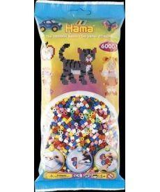 Настольная игра Набор цветных бусин MIDI 5+, 6000шт в пакете, 10 цветов