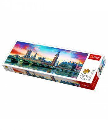 Пазл Trefl Биг-Бен и Вестминстерский дворец, Лондон, 500 элементов панорамный