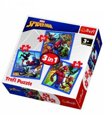 Пазл Trefl Сила Человека-паука, 3 пазла 20-36-50 элементов