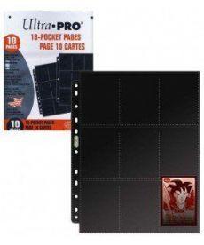 Настольная игра ЛИСТ Ultra-Pro 2,5''х3,5'' (3х3): 2-х сторонние платиновые, с чёрной подложкой (10 листов)